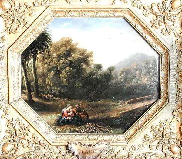 The Rest on the Flight into Egypt, 1631 Oil Painting - Claude Lorrain (Gellee)