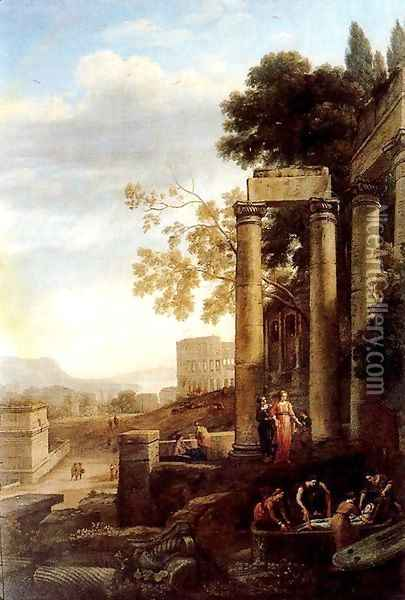 Landscape with the burial of St. Serapia Oil Painting - Claude Lorrain (Gellee)