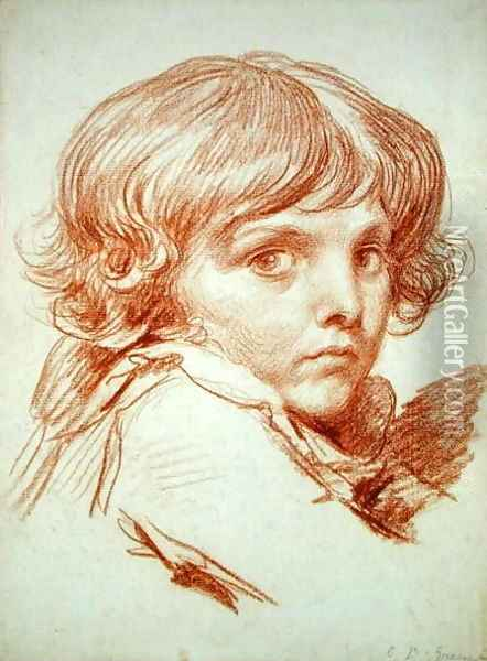 Portrait of a Young Boy Oil Painting - Claude Lorrain (Gellee)