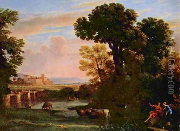 Landscape with Shepherd (Pastorale) Oil Painting - Claude Lorrain (Gellee)