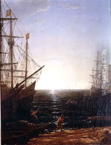 Harbour Scene 2 Oil Painting - Claude Lorrain (Gellee)