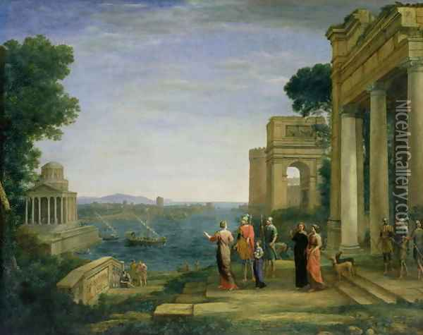 Aeneas and Dido in Carthage 1675 Oil Painting - Claude Lorrain (Gellee)