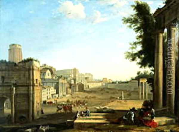 The Campo Vaccino Rome Oil Painting - Claude Lorrain (Gellee)