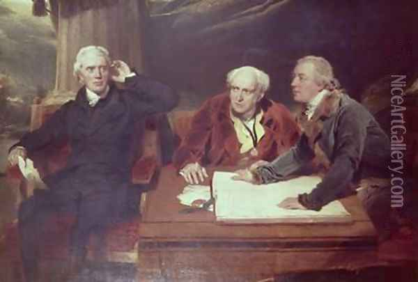 Sir Francis Baring Banker and Director of the East India Company with his Associates Oil Painting - Sir Thomas Lawrence