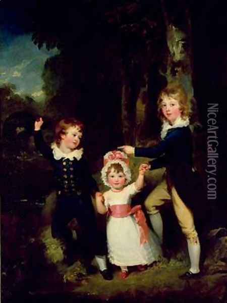 Portrait of the Children of Lord George Cavendish Oil Painting - Sir Thomas Lawrence