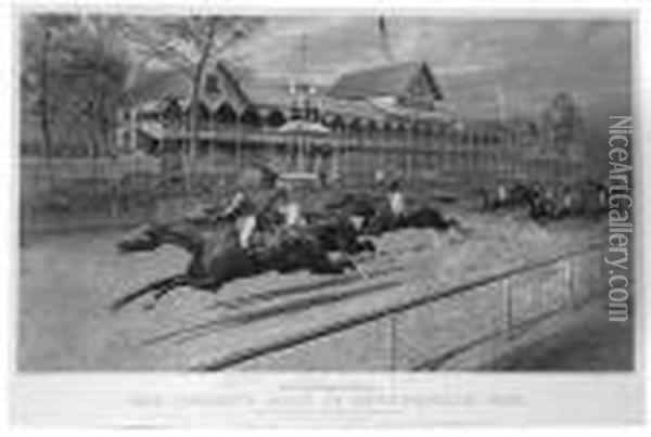 The Futurity Race At Sheepshead Bay. Oil Painting - Currier & Ives Publishers