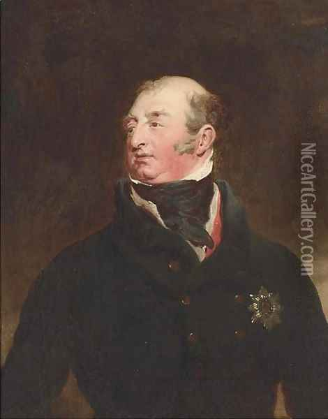 Portrait of Frederick, Duke of York and Albany (1763-1827), bust-length, in a black jacket, wearing the Order of the Garter Oil Painting - Sir Thomas Lawrence
