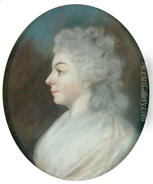 Portrait of a woman traditionally identified as Sarah Siddons Oil Painting - Sir Thomas Lawrence