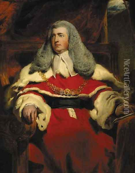 Portrait of Edward Law, 1st Baron Ellenborough, M.P., Lord Chief Justice of England (1750-1818) Oil Painting - Sir Thomas Lawrence