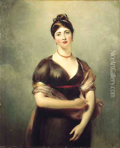Portrait of Elizabeth Jennings, later Mrs William Lock Oil Painting - Sir Thomas Lawrence
