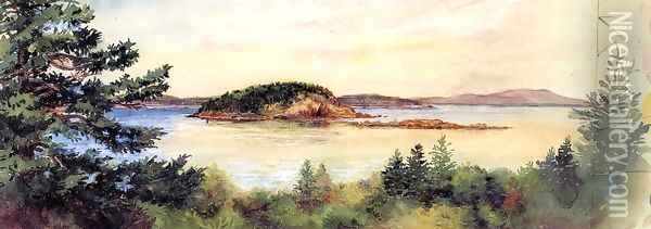 Porcupine Island Bar Harbor Maine Oil Painting - John La Farge