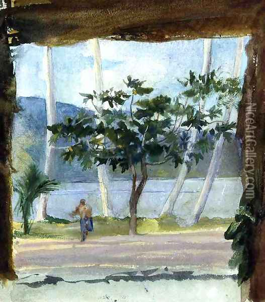 Late Afternoon Fagaloa Bay Oil Painting - John La Farge