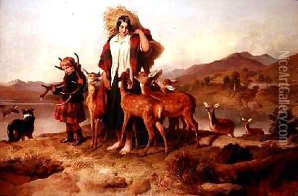 The Foresters Family Oil Painting - Sir Edwin Henry Landseer