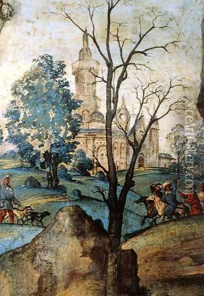 Assumption and Annunciation (detail-1) 1489-91 Oil Painting - Filippino Lippi