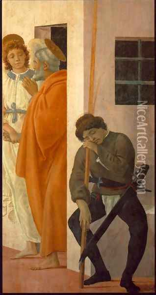 St Peter Freed from Prison 1481-82 Oil Painting - Filippino Lippi