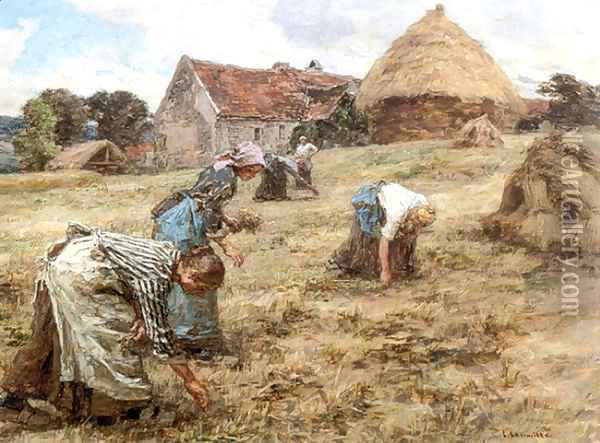 Les Glaneuses (The Gleaners) Oil Painting - Leon Augustin Lhermitte