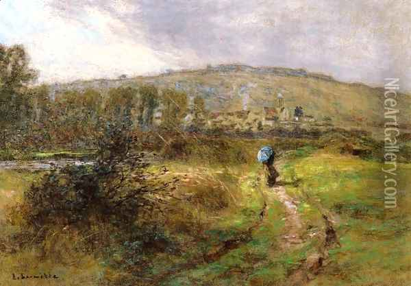 The Approaching Storm Oil Painting - Leon Augustin Lhermitte
