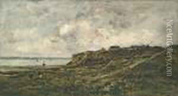 Maree Basse A Villerville Oil Painting - Charles-Francois Daubigny
