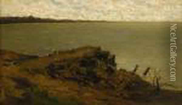 Inlet Off The Coast Of Villerville Oil Painting - Charles-Francois Daubigny