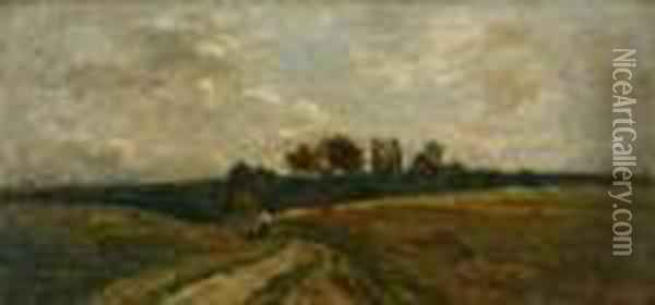Untitled Oil Painting - Charles-Francois Daubigny