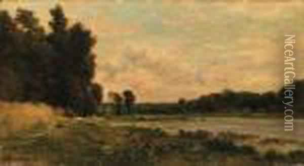 Washerwomen By The River Oil Painting - Charles-Francois Daubigny