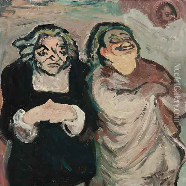 Two Judges Oil Painting - Honore Daumier