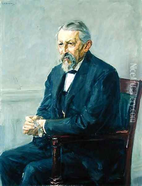 The Natural Scientist, Hermann Strebel (1834-1914) 1905 Oil Painting - Max Liebermann