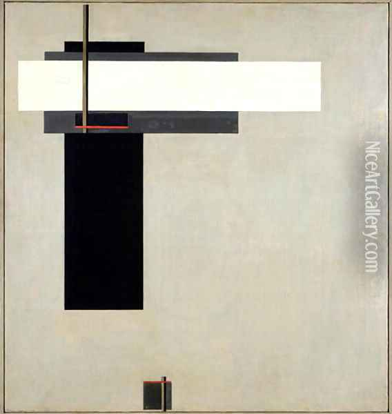 Composition Proun GBA 4, c.1923 Oil Painting - Eliezer Markowich Lissitzky