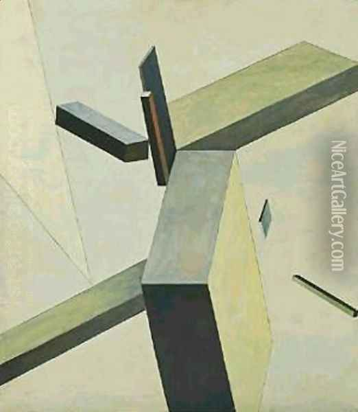 Composition Oil Painting - Eliezer Markowich Lissitzky