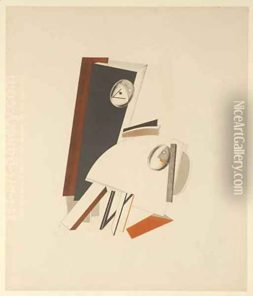 Anxious People Oil Painting - Eliezer Markowich Lissitzky