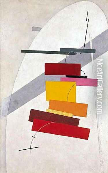 Untitled Oil Painting - Eliezer Markowich Lissitzky