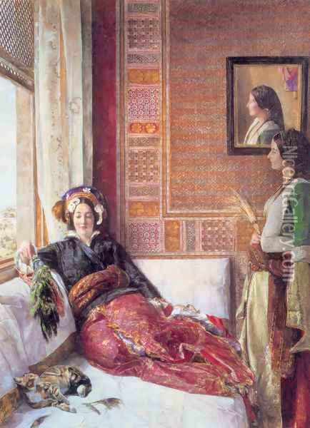 Harem Life in Constantinople Oil Painting - John Frederick Lewis