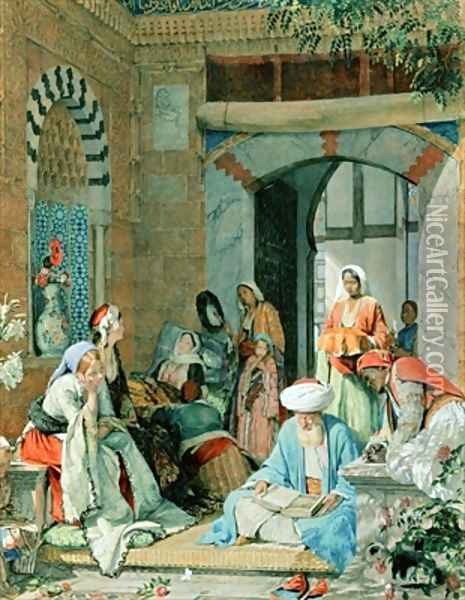 The Prayer of the Faithful shall cure the sick Oil Painting - John Frederick Lewis