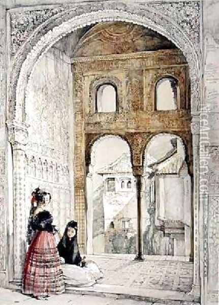 Window in the Hall of Ambassadors Oil Painting - John Frederick Lewis