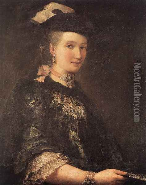 Portrait of a Lady c. 1770 Oil Painting - Alessandro Longhi