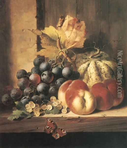 Still Life of Fruit Oil Painting - Edward Ladell