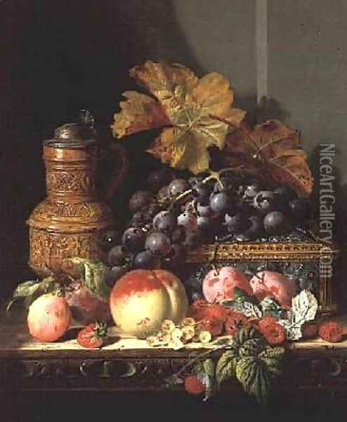 A Still life of Fruit Oil Painting - Edward Ladell