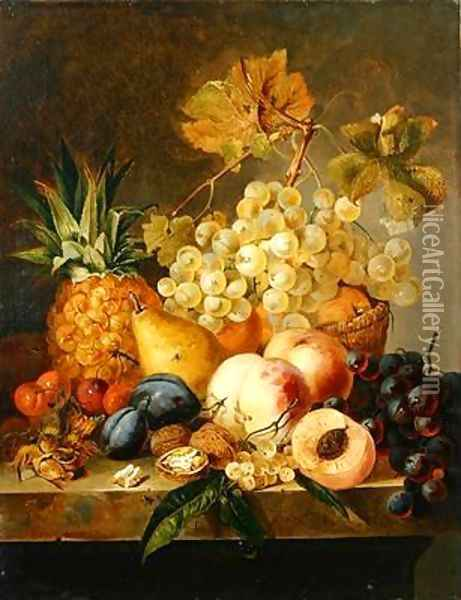 Still life with fruit Oil Painting - Edward Ladell
