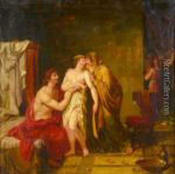 La Premiere Nuit Oil Painting - Jacques Louis David