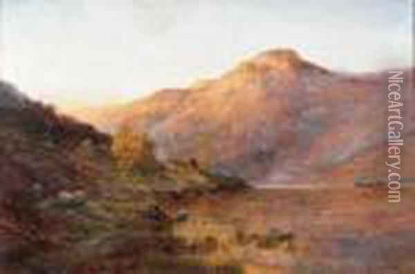 Ben Lomond Oil Painting - Alfred de Breanski