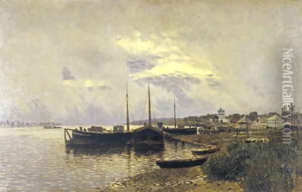 After Rain in Ples, 1889 Oil Painting - Isaak Ilyich Levitan
