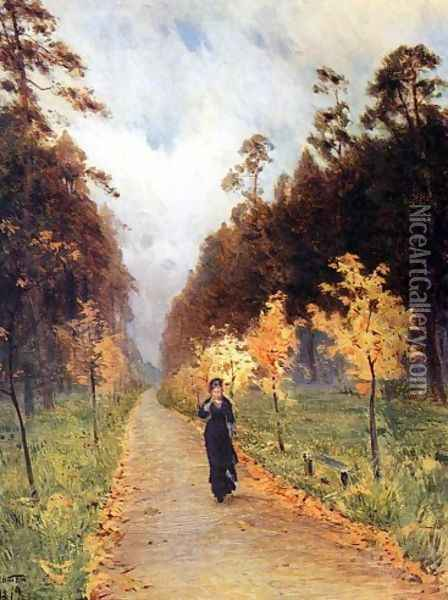 Autumn day. Sokolniki, 1879 Oil Painting - Isaak Ilyich Levitan