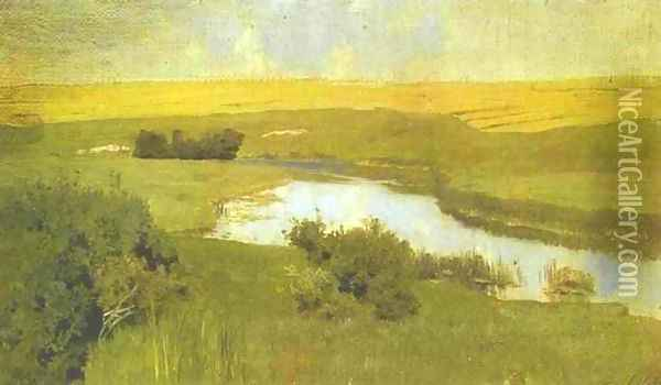 The Istra River Study 1885 1886 Oil Painting - Isaak Ilyich Levitan
