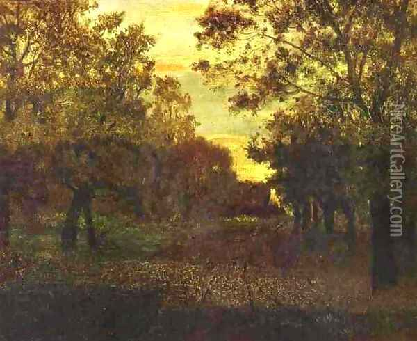 Road in a Wood 1881 Oil Painting - Isaak Ilyich Levitan