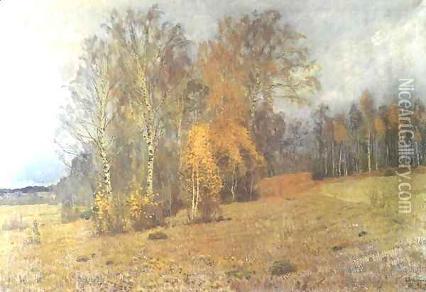 October 1891 Oil Painting - Isaak Ilyich Levitan