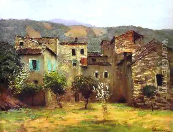In the Vicinity of Bordiguera in the North of Italy 1890 Oil Painting - Isaak Ilyich Levitan