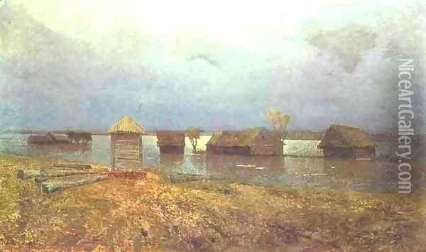 High Waters 1885 Oil Painting - Isaak Ilyich Levitan