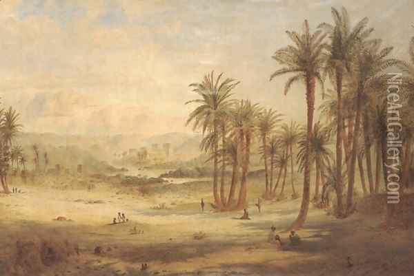 A view of Philae Oil Painting - Edward Lear