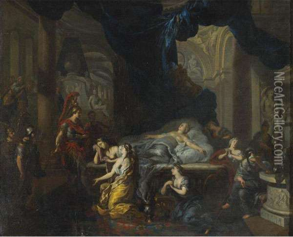 Death Of Cleopatra Oil Painting - Gerard de Lairesse