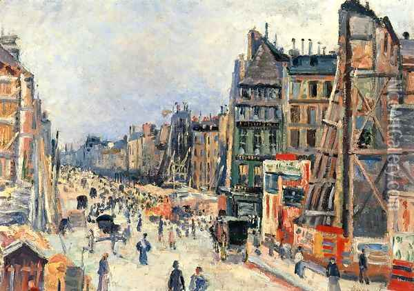 The Opening of the Rue Reaumur Oil Painting - Maximilien Luce